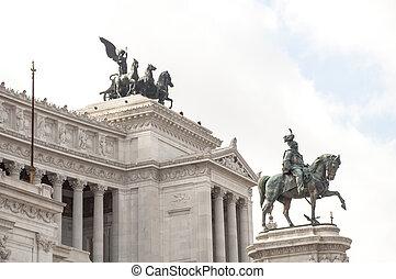 Victor Emmanuel II Monument in Piazza Venezia, Rome