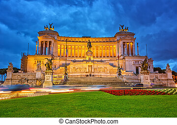Victor Emmanuel monument in Rome - Equestrian monument to ...