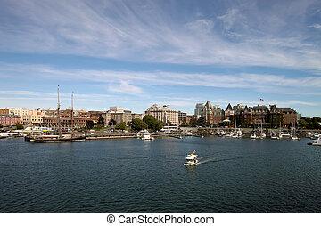 Victoria BC Inner Harbour City Skyline