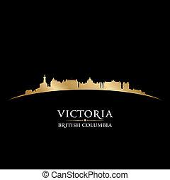 Victoria British Columbia Canada city skyline silhouette....