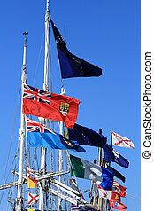 victoria, canada, bc, -, bandiere
