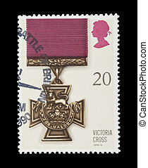 victoria cross - BRITISH: mail stamp featuring the Victoria...