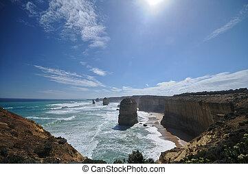 victoria, douze apôtres, à, grande route océan