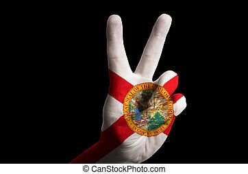 victoria, estado de florida, nosotros, arriba, bandera,...