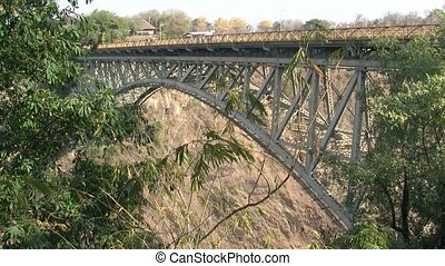 Victoria Falls Bridge with Bungee Jump - Famous Victoria...