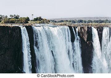 Victoria Falls Waterfall in Zimbabwe, Africa