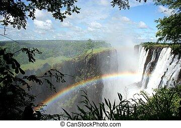The Victoria Falls or Mosi-oa-Tunya