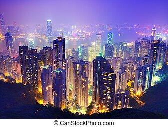 Victoria Harbor View of Hong Kong.