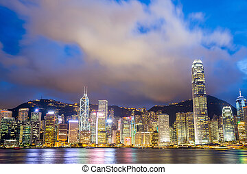 Victoria Harbour Hong Kong - Hong Kong Skyline from Victoria...