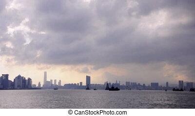 victoria harbour storm cloud