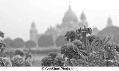 Victoria Memorial, Kolkata , Calcutta, West Bengal, India. A...