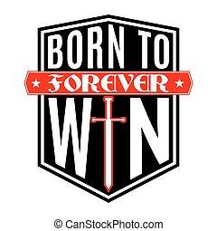 victoria, nacido, camisa, gráfico, tipografía, t