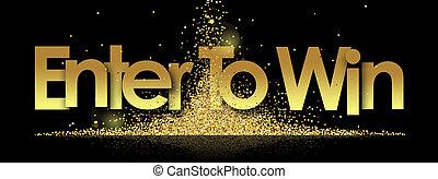 victoria, negro, fondo dorado, estrellas, entrar