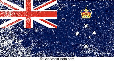 Victoria State Grunge Flag - The flag of the Australian ...