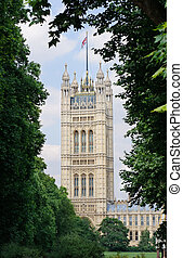 Victoria Tower, Houses of Parliament in London, UK