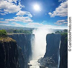 Victoria waterfall