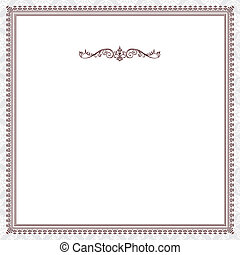 victoriaans, vector, frame, rood