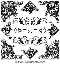 victorian, フレーム, そして, 装飾