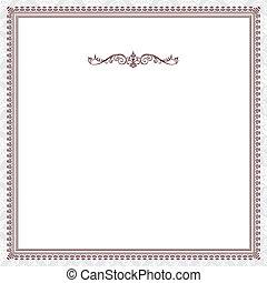 victorian, ベクトル, フレーム, 赤