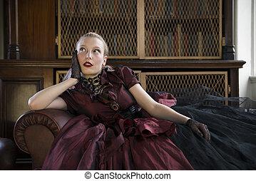 victorian 婦女, 圖書館