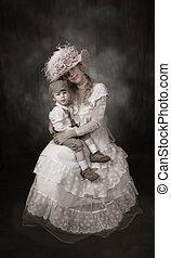 victorian, 母, 時代, 息子