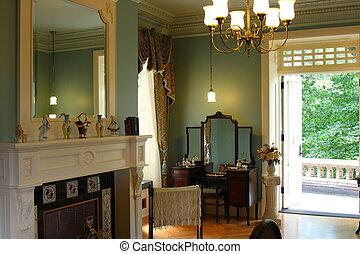 victorian, 飾られる, 寝室