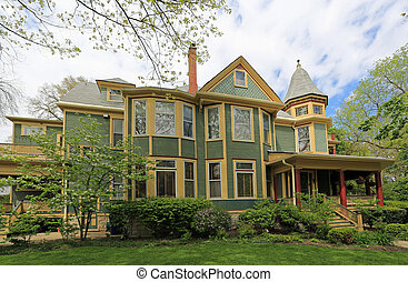 Victorian architecture and porch