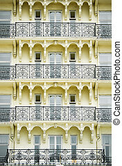 architecture detail of a building designed in the victorian era