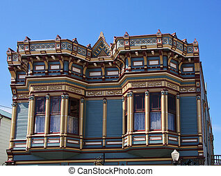 Victorian architecture in the city of Ferndale, California