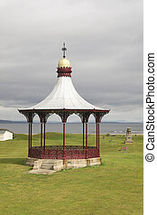 Victorian bandstand near the waterfront