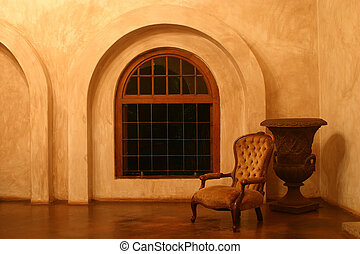 Victorian Chair in Tuscan Villa