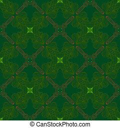 victorian dark green vintage pattern