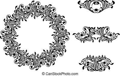 Victorian Decorative Element Set - Victorian Decorative...