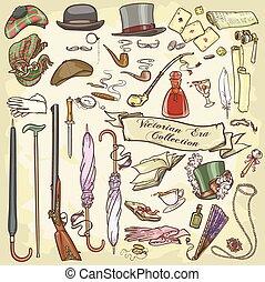 Victorian Era Collection, Set of Vintage Accessories