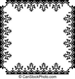 victorian frame against white