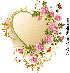victorian frame - Vector illustration - Frame in the...