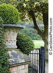 Victorian garden detail - English garden with a Victorian...