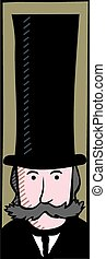 Victorian gentleman - A caricature of a typical victorian...