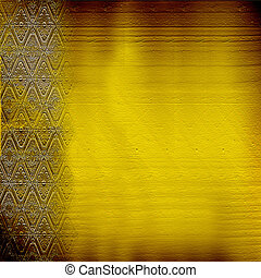 Victorian grunge background with gold classical pattern