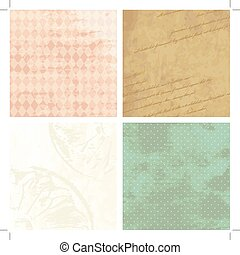 Victorian grunge backgrounds - Four grungy backgrounds for...