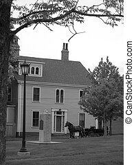 Victorian home and carriage - Horse Drawn carriage and old ...