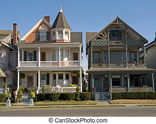 Victorian Homes - This is a shot of some typical victorian...