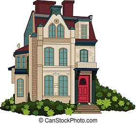 Victorian House Facade