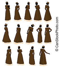 Victorian Illustration Silhouette