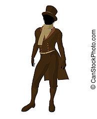 Victorian Man Illustration Silhouette