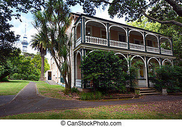Victorian merchant house in Auckland NZL - AUCKLAND - JAN 09...