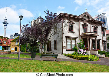 Victorian merchant house in Auckland NZL - AUCKLAND - JAN 09...