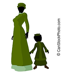 Victorian Mother And Child Artwork - Victorian mother and...