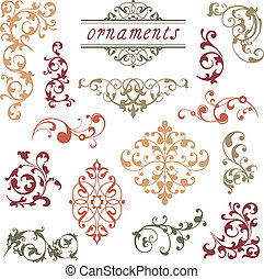 Victorian Scroll Ornaments - A collection of various scroll...