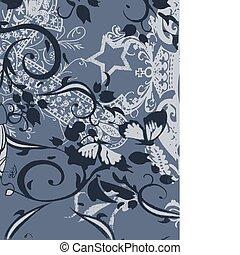 victorian spiral flower design